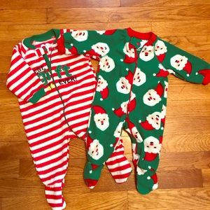 Set of 2 Children's Place Christmas footies